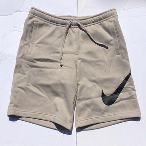 Khaki Nike Swoosh Mens Cotton Shorts